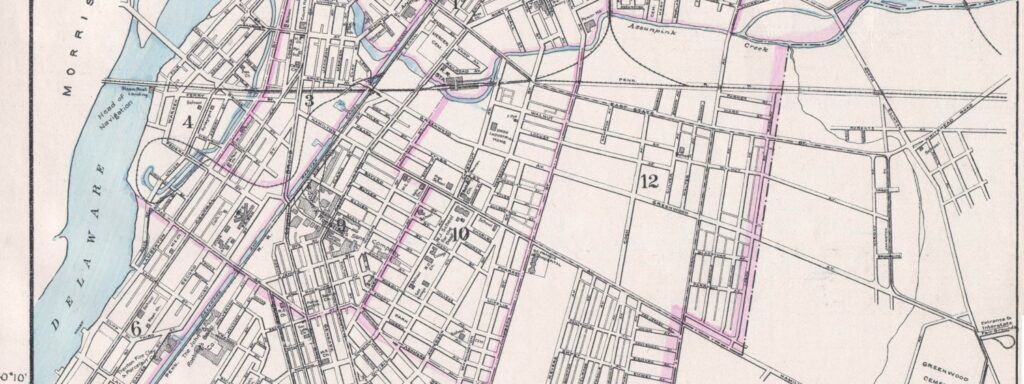 Trenton NJ Map - 1910